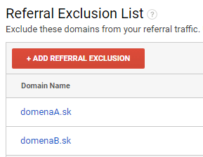 Referral Exclusion List Google Analytics