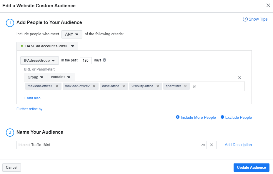 Facebook Business Manager - Custom Audience - Finished