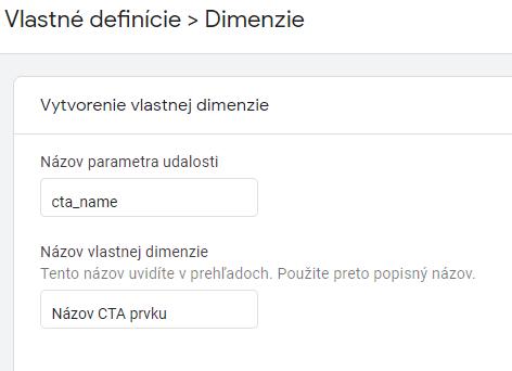 GA4 - vlastné dimenzie - definícia