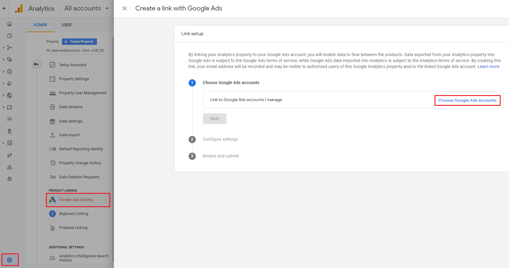 Google Analytics 4 - prepojenie s Google Ads