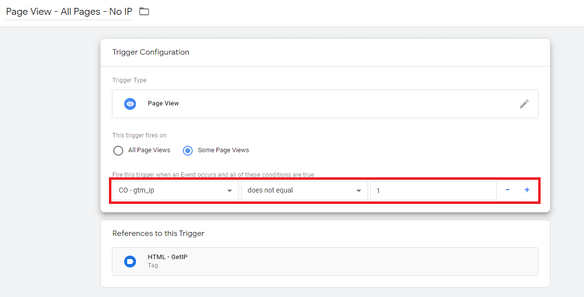 Google Tag Manager - Trigger pre page view bez IP adresy