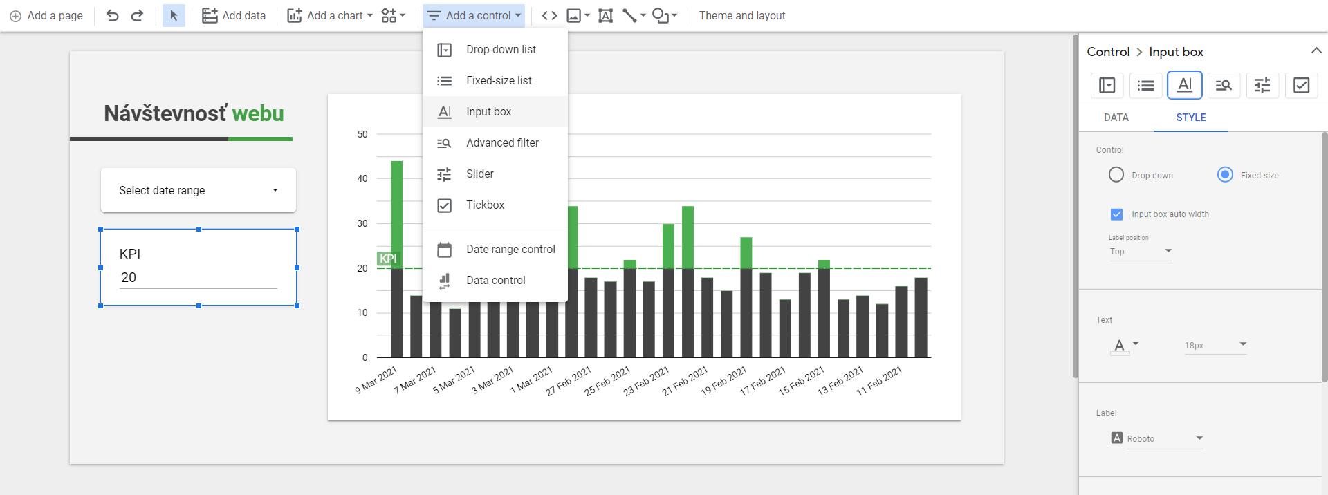input box data studio