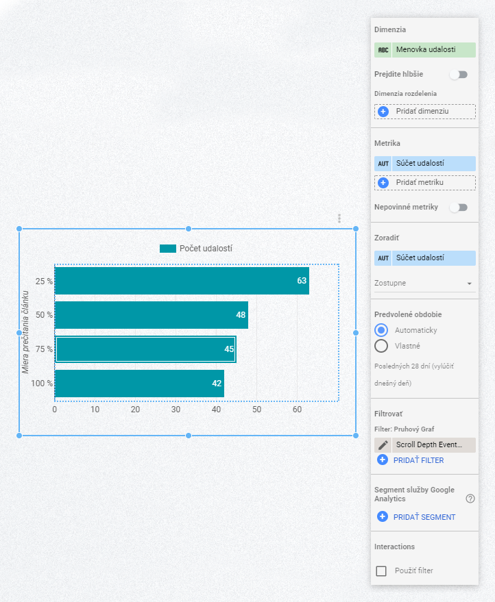 Google Data Studio Scroll Depth