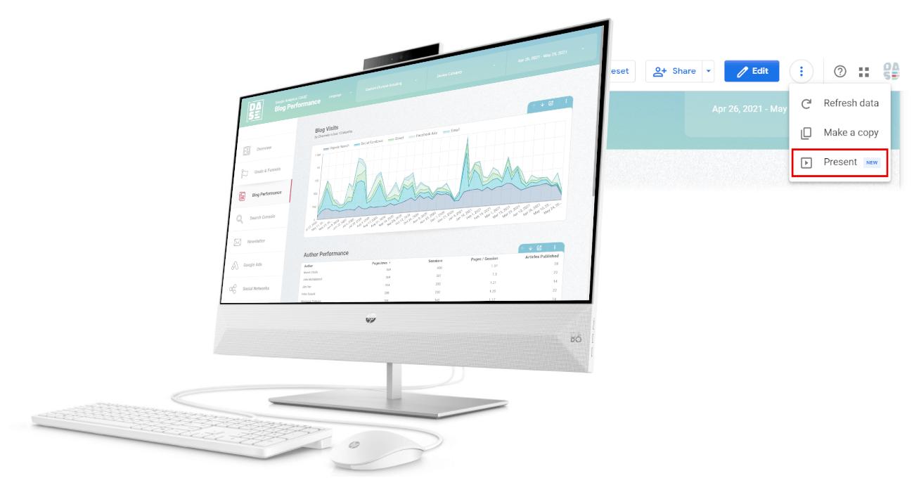 full screen google data studio