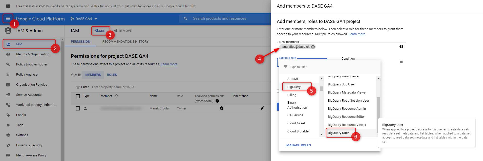 google cloud add permissions