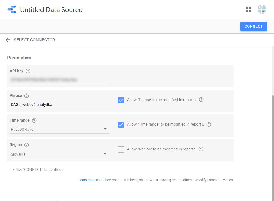 google trends konektor data studio