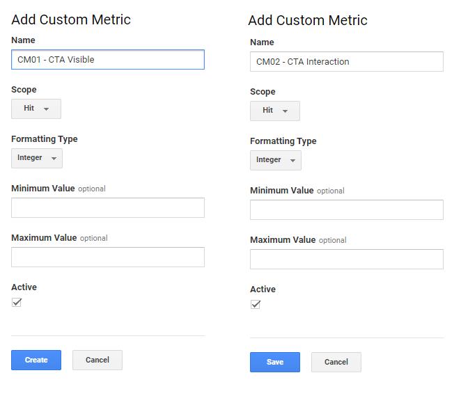 Definícia dvoch vlastných metrík v Google Analytics