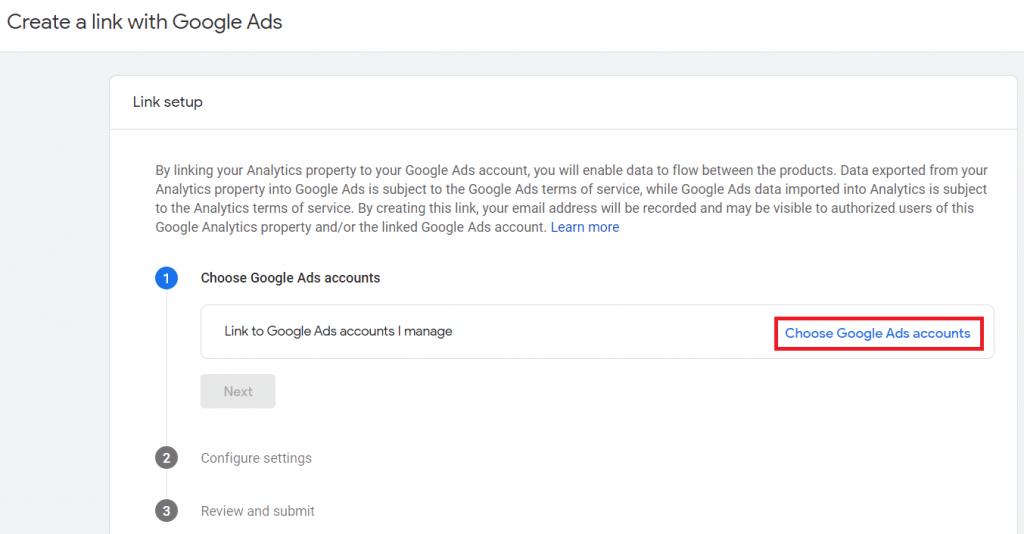 vyber uctu google ads