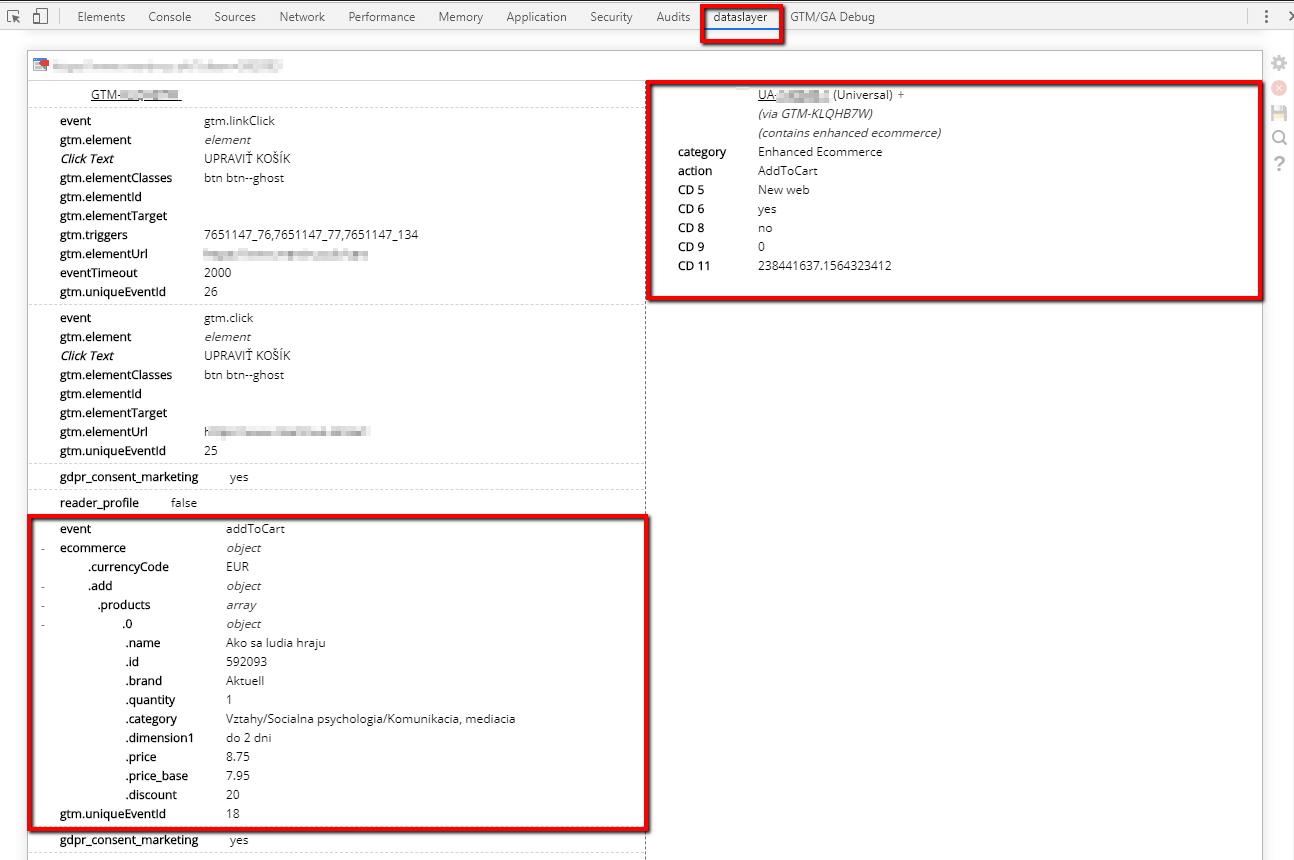 dataslayer data display