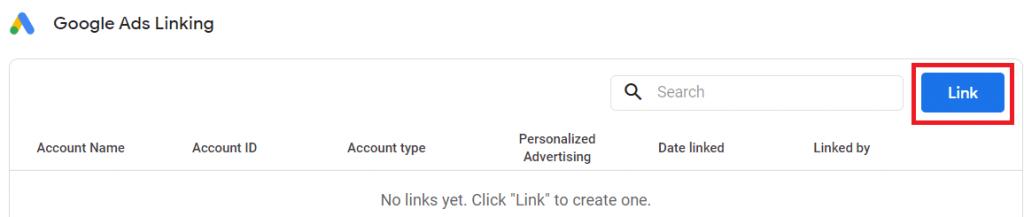 google ads link