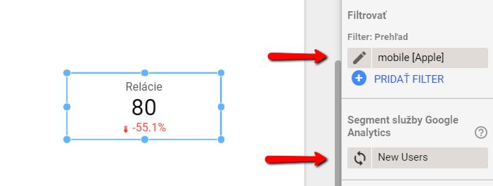 filter, segment, data studio - scorecard