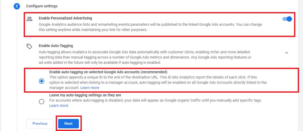 prepojenie google ads a google analytics 4 krok 6