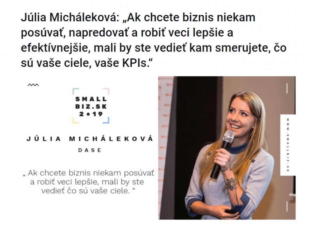 Small Biz 2019 - Júlia Micháleková